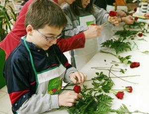 Atelier d'art floral pour enfant