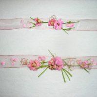 Headband en fleurs naturelles sur ruban