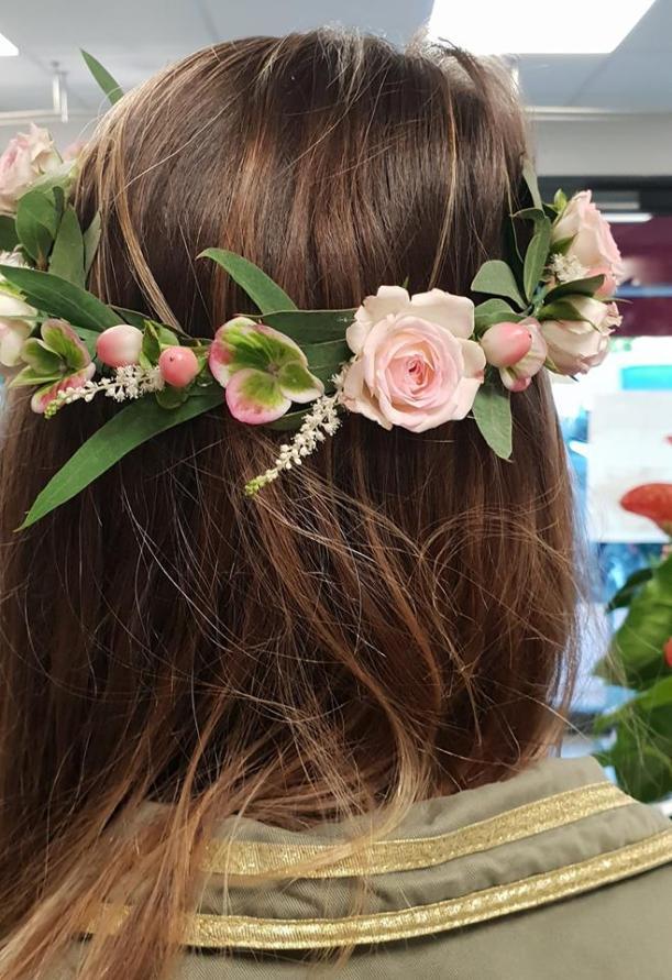 couronne pour cheveux en fleurs tergal pour enfant