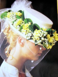 guirlande de fleurs pour chapeau