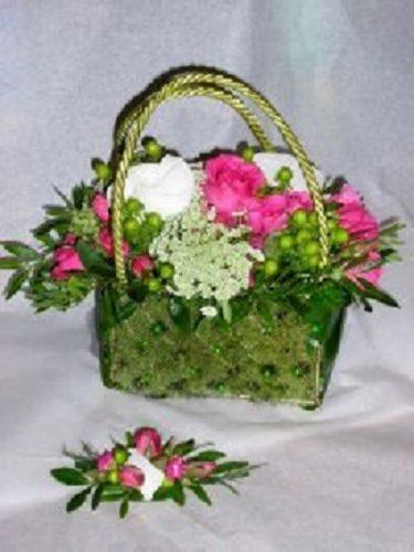 Sac floral pour une mariée