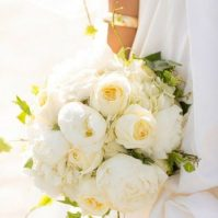 Gros bouquet de mariée pivoine duchess