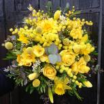 bouquet tout jaune