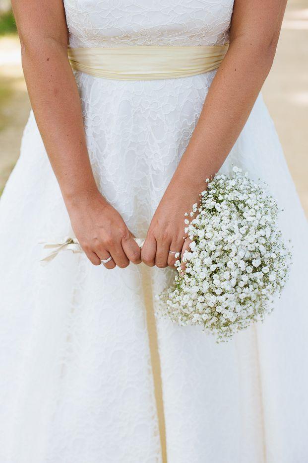 Mini bouquet de mariée en gypsophile