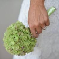 bq mariée hortensia vert