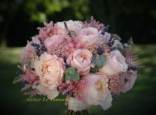 Bouquet rond rose poudré