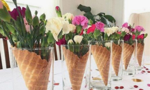 atelier apéro floral Composition florale cornet de feurs