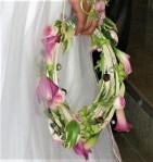 Bouquet e mariée en couronne