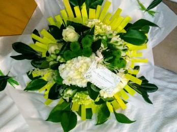Bouquet étoile vert et blanc