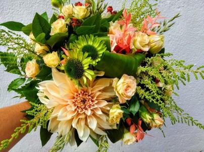 Bouquet aux douces teintes